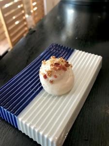 石川芋と新ごぼうムース